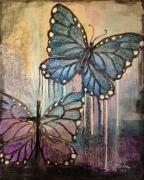 Wings Of Faith 16x20 mixed media