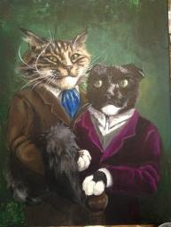 Pushkin & Bobo 16x20 acrylic