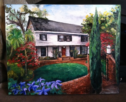House on Hilltop Drive 30x36